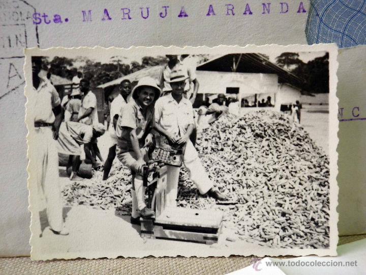 Sellos: CARTA Y SOBRE CIRCULADO, 1949, CON FOTOGRAFIAS GUINEA ESPAÑOLA, BATA A VALENCIA, CERTIFICADO - Foto 6 - 47134841