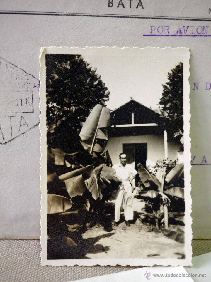 Sellos: CARTA Y SOBRE CIRCULADO, 1949, CON FOTOGRAFIAS GUINEA ESPAÑOLA, BATA A VALENCIA, CERTIFICADO - Foto 11 - 47134841