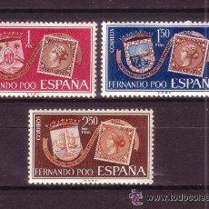 Sellos: FERNANDO POO - AÑO / ANNE / YEAR 1968 - EDIFIL Nº 262/64 ** MNH - CENTENARIO DEL SELLO DE FERNANDO P. Lote 57326637