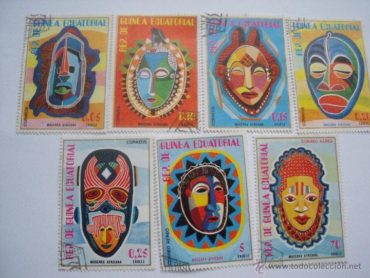 SELLOS GUINEA ECUATORIAL MASCARAS (Sellos - España - Colonias Españolas y Dependencias - África - Guinea)