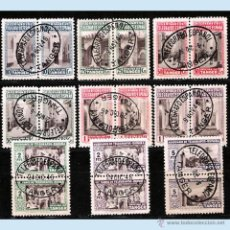 Sellos: HUERFANOS DE TELEGRAFOS 1946.- SERIE EN PAREJA PAREJA CON MATASELLO.DE TELEGRAFOS . Lote 47511001
