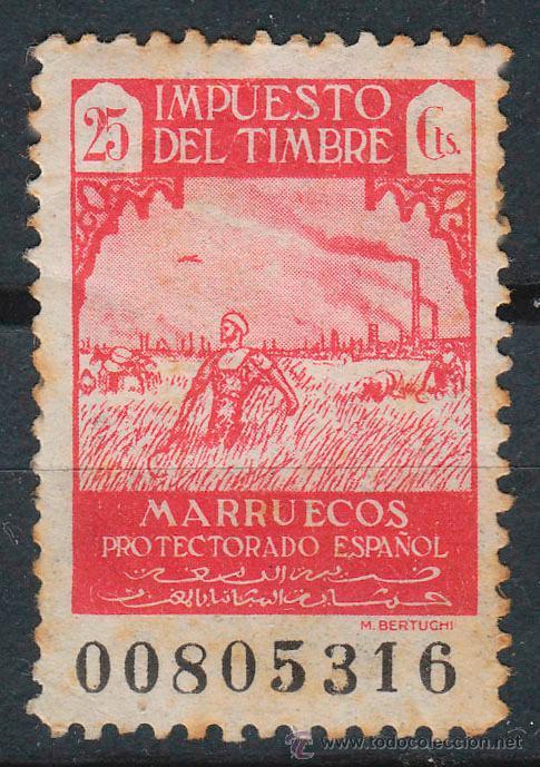 MARRUECOS, IMPUESTO DEL TIMBRE AÑO 1946 (Sellos - España - Colonias Españolas y Dependencias - África - Marruecos)