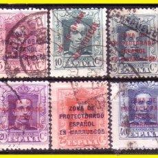 Sellos: MARRUECOS 1921 ALFONSO XIII EDIFIL Nº 82 A 87 (O) . Lote 48322953