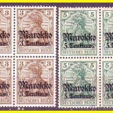 Sellos: MARRUECOS DESPACHOS ALEMANES 1911, IVERT Nº 45 Y 46 B4 * *. Lote 48351672