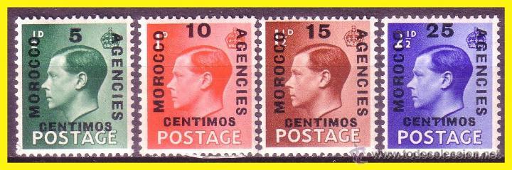 MARRUECOS 1936 DESPACHOS INGLESES IVERT Nº 66 A 69 * * SERIE COMPLETA (Sellos - España - Colonias Españolas y Dependencias - África - Marruecos)