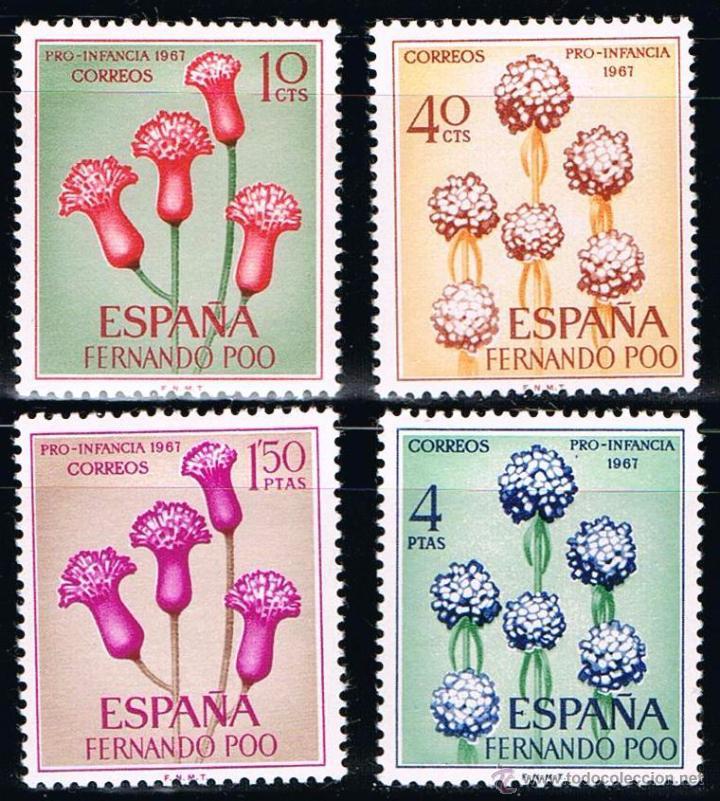 FERNANDO POO 1967 (255-258) PRO INFANCIA (NUEVO) (Sellos - España - Colonias Españolas y Dependencias - África - Fernando Poo)