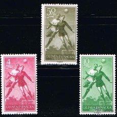 Sellos: GUINEA ESPAÑOLA 1955 (350-354) FUTBOL (NUEVO). Lote 48643761