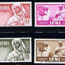 Sellos: IFNI 1953 (95-98) PRO INFANCIA (NUEVO). Lote 48999522