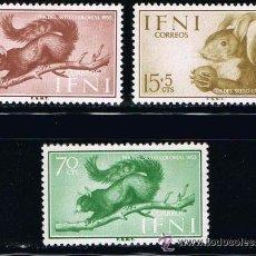 Sellos: IFNI 1955 (125-127) DIA DEL SELLO (NUEVO). Lote 48999983