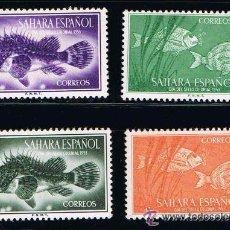 Sellos: SAHARA 1953 (108-111) DIA DEL SELLO (NUEVO). Lote 49090743