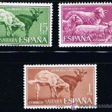 Sellos: SAHARA 1962 (212-214) DIA DEL SELLO (NUEVO). Lote 49096605