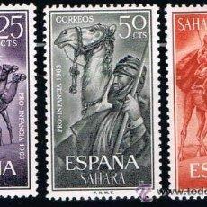 Sellos: SAHARA 1963 (217-219) PRO INFANCIA (NUEVO). Lote 49096841