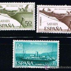 Sellos: SAHARA 1966 (249-251) PRO INFANCIA (NUEVO). Lote 49105368