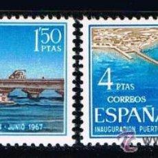 Sellos: SAHARA 1967 (260-261) INSTALACIONES PORTUARIAS (NUEVO). Lote 49105537