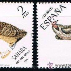 Sellos: SAHARA 1974 (317-318) DIA DEL SELLO (NUEVO). Lote 49106132