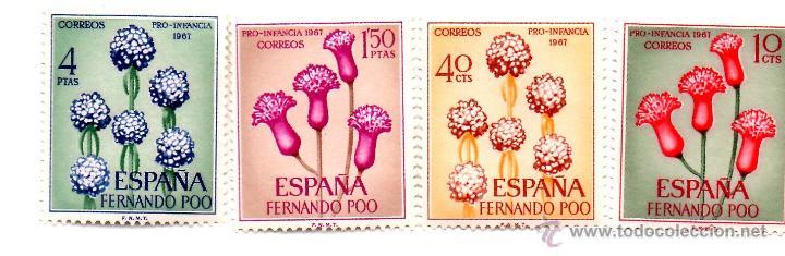 FERNÁNDO POO-1967- EDIFIL 255/258/1-NUEVOS SIN CHARNELA- (Sellos - España - Colonias Españolas y Dependencias - África - Fernando Poo)