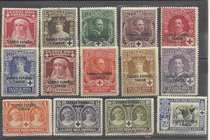 COLONIA ESPAÑOLA SERIE 23/36 DE TANGER 1926 PRO CRUZ ROJA NUEVA CON CHARNELA (Sellos - España - Colonias Españolas y Dependencias - África - Tanger)