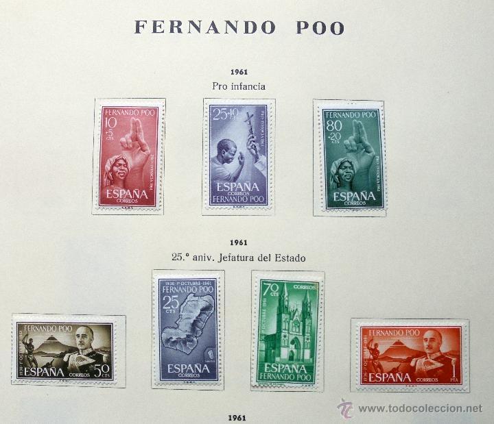 Sellos: Fernando Poo,España.Lote de sellos nuevos 1960/66 - Foto 2 - 49895542