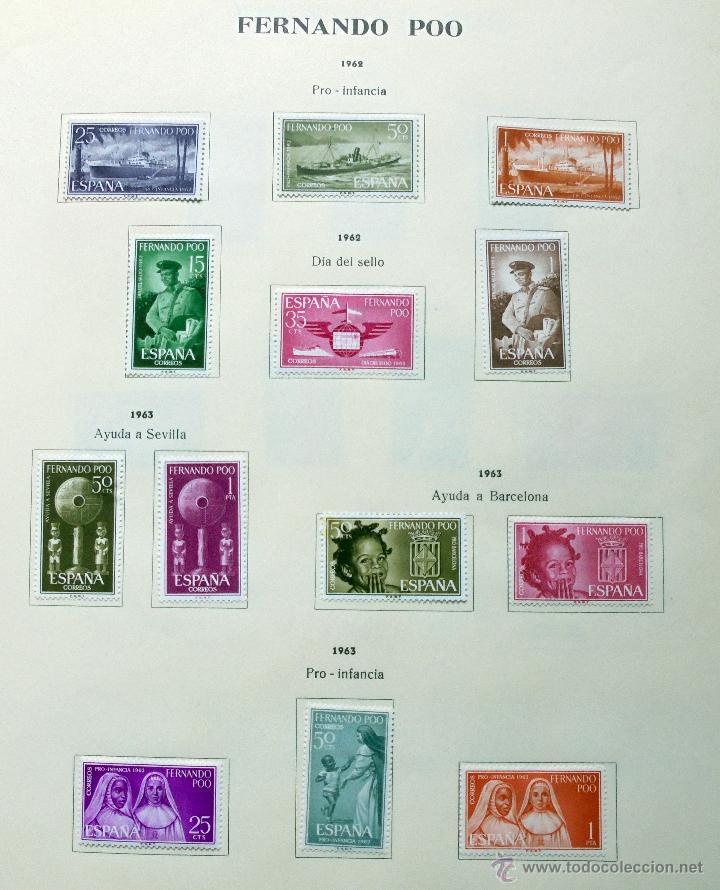 Sellos: Fernando Poo,España.Lote de sellos nuevos 1960/66 - Foto 3 - 49895542