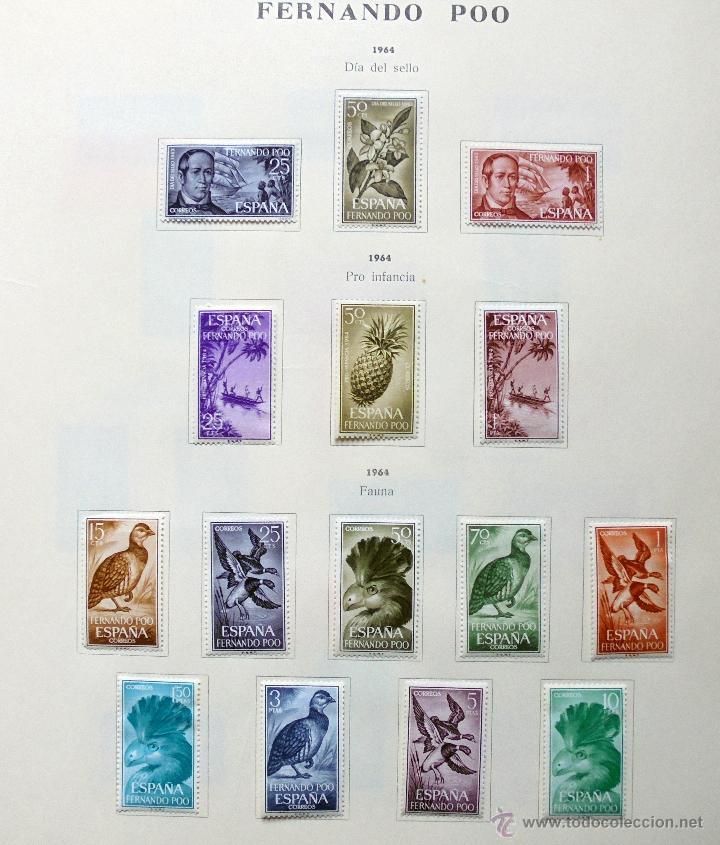 Sellos: Fernando Poo,España.Lote de sellos nuevos 1960/66 - Foto 4 - 49895542
