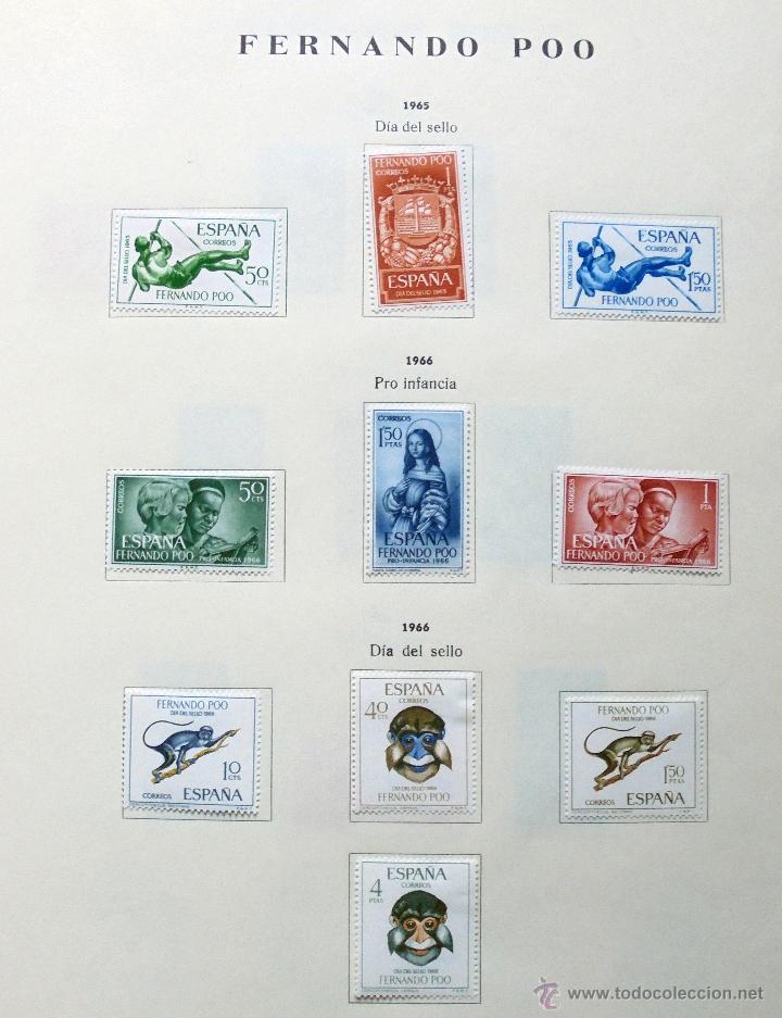 Sellos: Fernando Poo,España.Lote de sellos nuevos 1960/66 - Foto 6 - 49895542