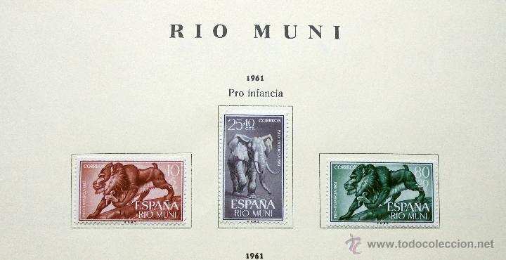 Sellos: Río Muni,España.Lote de sellos nuevos 1960/66 - Foto 2 - 49895610