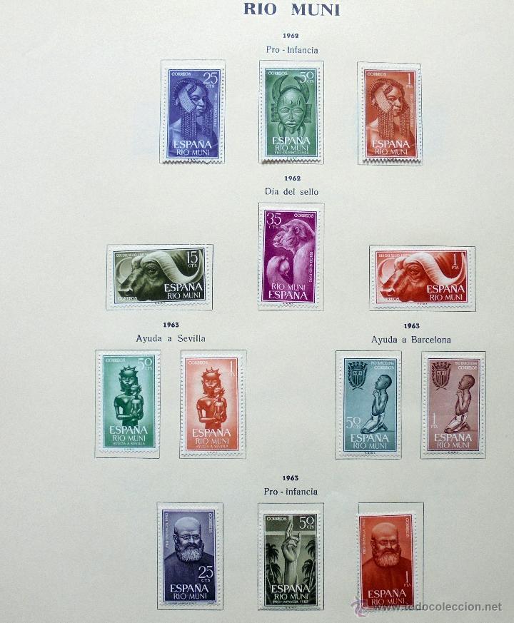Sellos: Río Muni,España.Lote de sellos nuevos 1960/66 - Foto 3 - 49895610