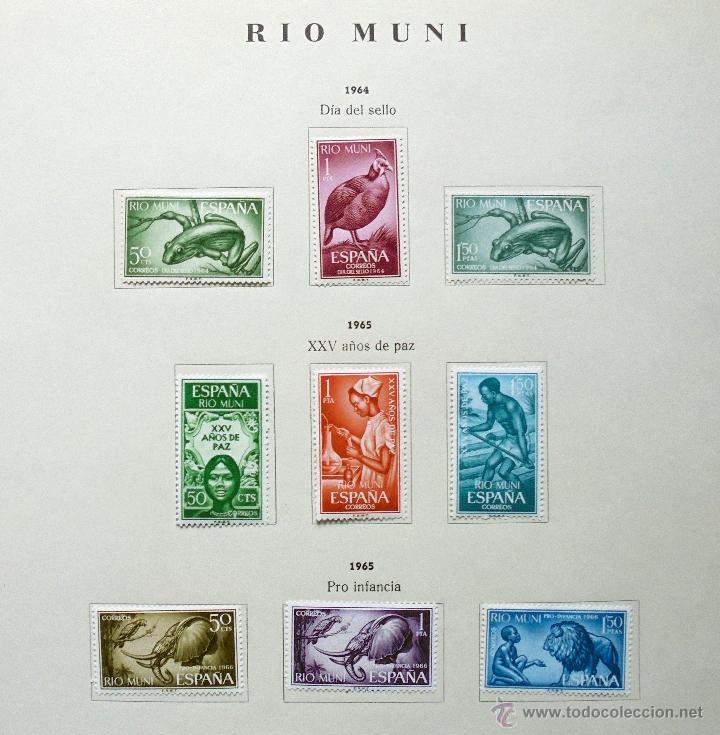 Sellos: Río Muni,España.Lote de sellos nuevos 1960/66 - Foto 5 - 49895610