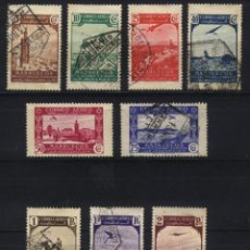 Sellos: S-0062- MARRUECOS. 9 SELLOS DE LA SERIE PAISAJES DE 1938. Lote 49947668