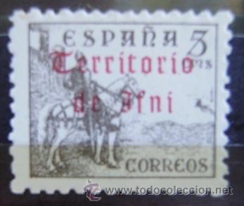 Sellos: IFNI - EDIFIL Nº 38 SELLO NUEVO (**) SIN FIJASELLOS - SOBRECARGA EN EL REVERSO - 2 FOTOS - Foto 2 - 50564363