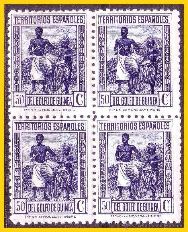 GUINEA 1934 TIPOS INDÍGENAS, DENTADO 10 1/4, B4 EDIFIL Nº 250 * * (Sellos - España - Colonias Españolas y Dependencias - África - Guinea)