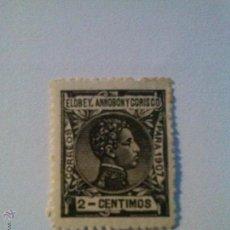 Sellos: ELOBEY , ANNOBÓN Y CORISCO , EDIFIL 36* CHARNELA , 2 CENT.. Lote 51476301