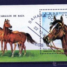 Sellos: HB DE SAHARA OCC AÑO 1993 USADA - CABALLOS DE RAZA . Lote 51810472