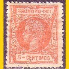 Timbres: FERNANDO POO 1901 ALFONSO XIII, EDIFIL Nº 99 *. Lote 51854139