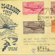 Stamps - SOBRE DEL PRIMER DIA -1956 CORREO AEREO - 57707943