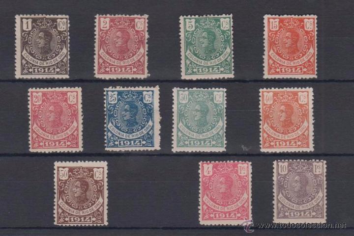 EDIFIL 78/90 * ALFONSO XIII A FALTA DEL 10 CTS Y 1 PTA (Sellos - España - Colonias Españolas y Dependencias - África - Río de Oro)