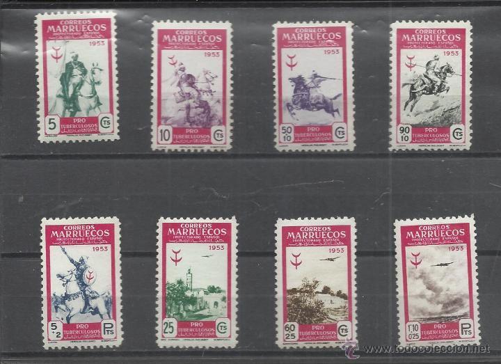 MARRUECOS SERIE DE 1953 Nº 374/381 NUEVA (Sellos - España - Colonias Españolas y Dependencias - África - Marruecos)