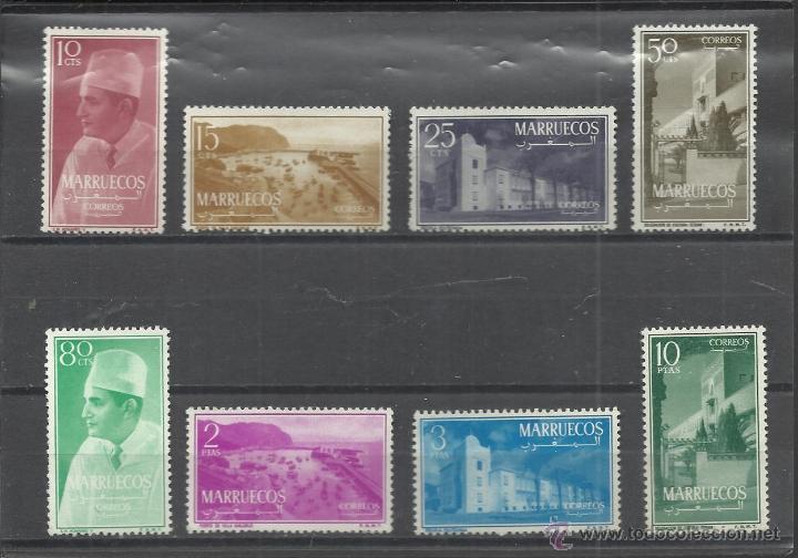 MARRUECOS INDEPENDIENTE SERIE DE 1956 Nº 1/8 NUEVA CON CHARNELA (Sellos - España - Colonias Españolas y Dependencias - África - Marruecos)