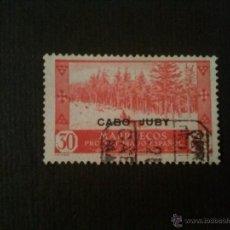Sellos: CABO JUBY, EDIFIL Nº 80, MATASELLOS CERTº. Lote 52865482