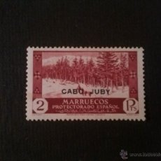 Sellos: CABO JUBY, EDIFIL Nº 84, GOMA ORIGINAL CON CHARNELA, LIGERA TRANSPARENCIA. Lote 52865934