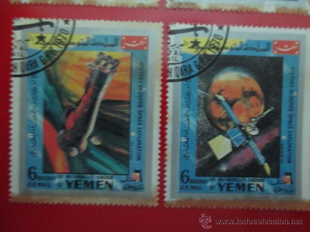 Sellos: YEMEN, HISTORIA DE LA EXPLORACION DEL ESPACIO EXTERIOR, AÑO 1970, LOTE DE CUATRO SELLOS - Foto 3 - 52927065