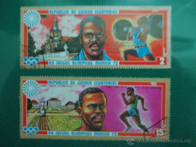 REPUBLICA DE GUINEA ECUATORIAL, XX JUEGOS OLIMPICOS MUNICH 72, DOS SELLOS (Sellos - España - Colonias Españolas y Dependencias - África - Guinea)