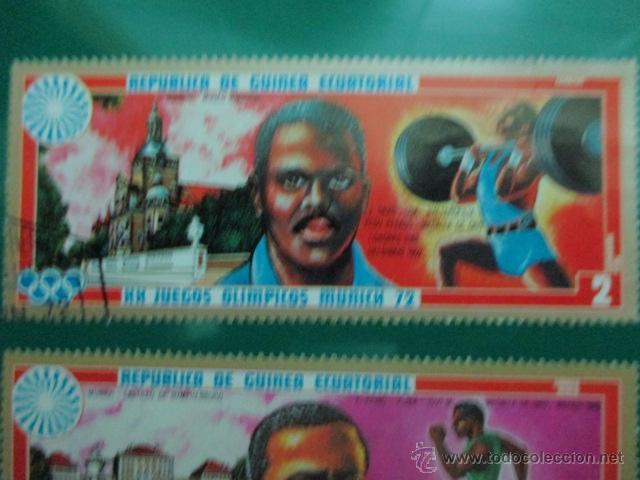 Sellos: REPUBLICA DE GUINEA ECUATORIAL, XX JUEGOS OLIMPICOS MUNICH 72, DOS SELLOS - Foto 2 - 52927140