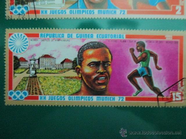 Sellos: REPUBLICA DE GUINEA ECUATORIAL, XX JUEGOS OLIMPICOS MUNICH 72, DOS SELLOS - Foto 3 - 52927140