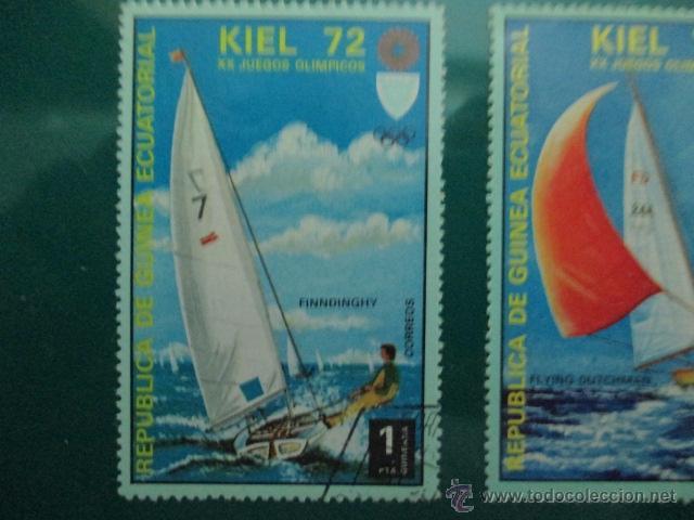 Sellos: REPUBLICA DE GUINEA ECUATORIAL, XX JUEGOS OLIMPICOS KIEL 72, DOS SELLOS DE 1 Y 5 PTS - Foto 2 - 52927188