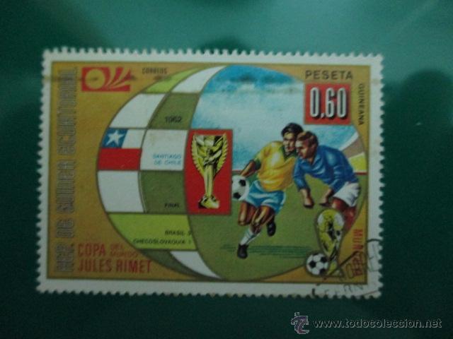 REPUBLICA DE GUINEA ECUATORIAL, COPA DEL MUNDO DE FUTBOL AÑO 1962, (Sellos - España - Colonias Españolas y Dependencias - África - Guinea)