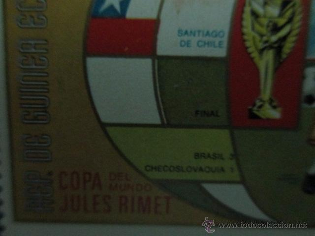 Sellos: REPUBLICA DE GUINEA ECUATORIAL, COPA DEL MUNDO DE FUTBOL AÑO 1962, - Foto 3 - 52927282