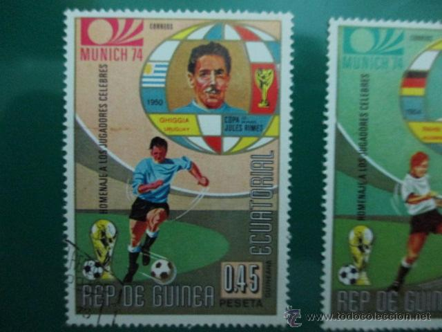 Sellos: REPUBLICA DE GUINEA ECUATORIAL, COPA DEL MUNDO DE FUTBOL, MUNICH 74, DOS SELLOS - Foto 2 - 52927321