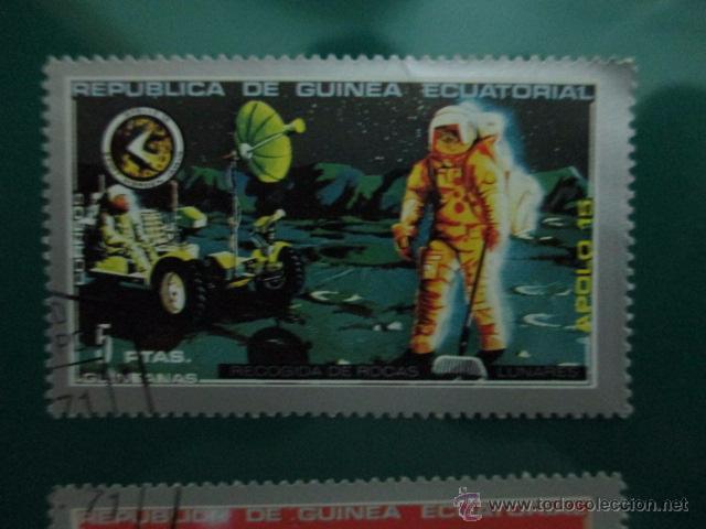 Sellos: REPUBLICA DE GUINEA ESCUATORIAL, AÑO 1971, APOLO 15, DOS SELLOS - Foto 2 - 52927356