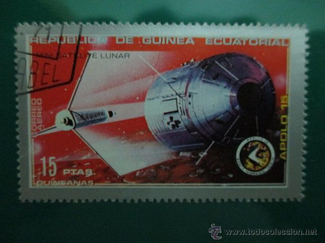 Sellos: REPUBLICA DE GUINEA ESCUATORIAL, AÑO 1971, APOLO 15, DOS SELLOS - Foto 3 - 52927356